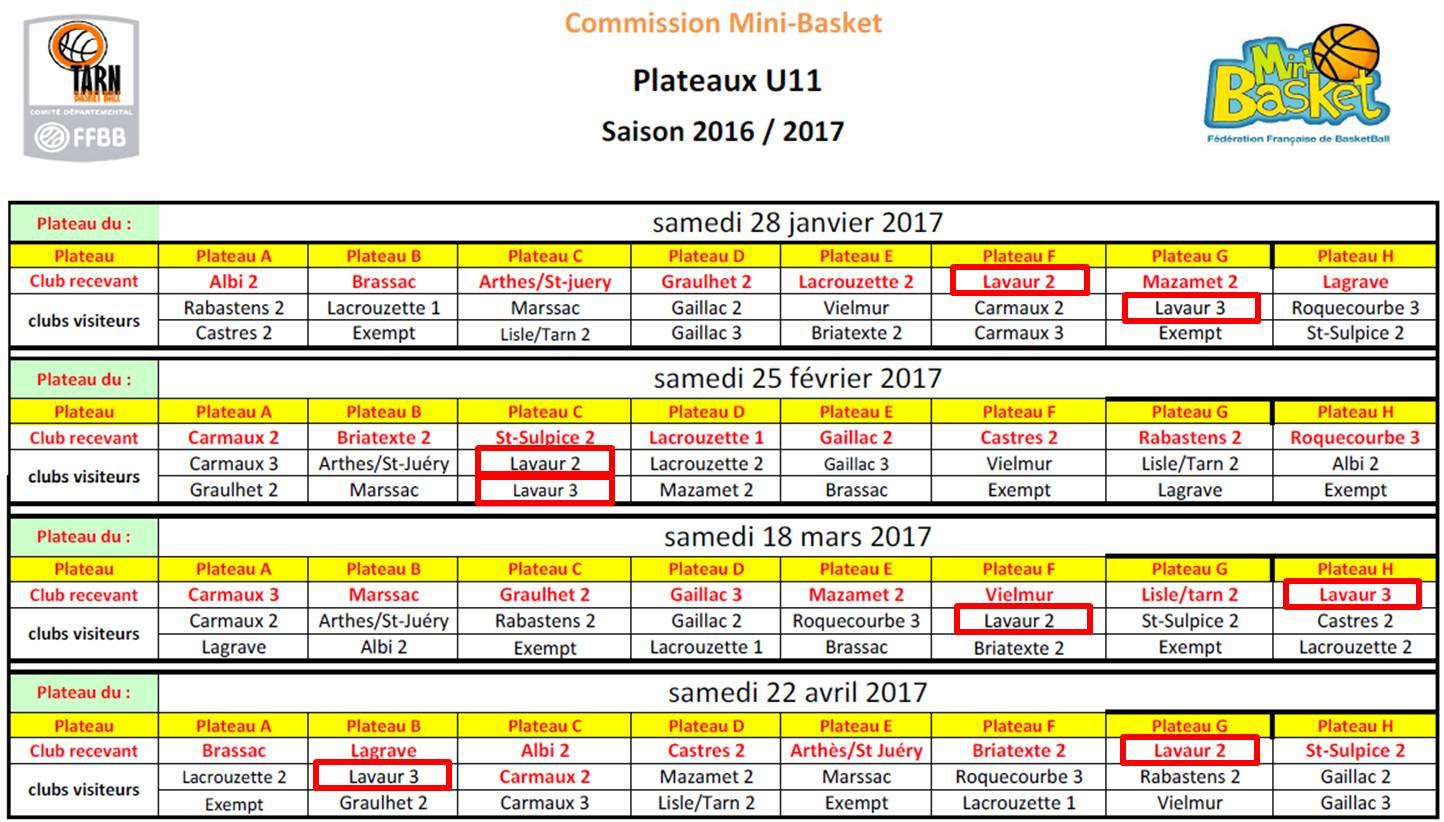PLATEAUX U11-2 + U11-3