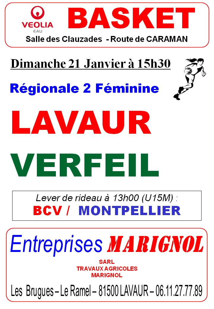 Programme du week-end au BC LAVAUR